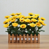 Plastic Artificial Flowers Floral Silk Flower Dried Bouquet Simulation Flower Suit Living Room Home Decorations Wood Fence Furnishings Ornaments Online