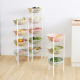 Plastic Color Kitchen Vegetable Storage Rack Multi Shelf Lowest Price