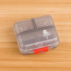 Multi-part Plastic Mini Small Medicine Box Convenient Carry-on Portable Medicine Separately Packed Case Pills Pill Small Storage Box