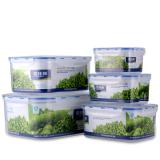 Buy Plastic Five Pieces Refrigerator Microwave Storage Box Freshness Box Oem Original