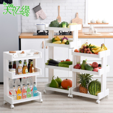Plastic floor bathroom kitchen storage rack shelf
