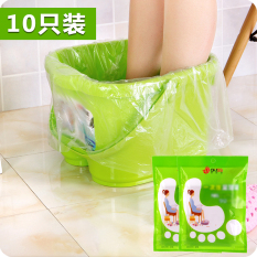 Thick Disposable Lavipeditum Bag Business Trip Travel Hotel Plastic pao jiao dai Foot Feet-washing Basin Barrel Bag