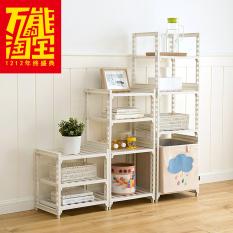 Plastic Multilayer Adjustable Storage Shelf Kitchen Living Room Bedroom Sanitary Ware Organizing Storage Rack 64733