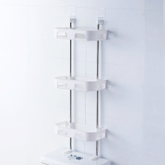 Plastic Suction Wall Mounted Toilet Wall Hangers Bathroom Shelf On China