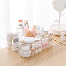 Ju la casa Transparent Multi-part Storage Box Dresser Cosmetics Storage Box Office Desk Surface Panel Plastic Storage Box
