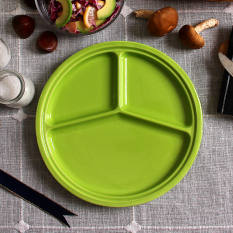 How To Get Plate Points Grid Ceramic Breakfast Dish Creative Separate Western Dish Steak Dish Student Children S Plate Home Dish