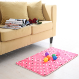 Cheap Simple Plush Japan And South Korea Style Spot Bedroom Rug Non Slip Mat