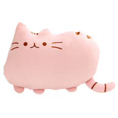 Compare Price Plush Big Cookie Cat Shape Throw Pillow Back Cushion Sofa Seat Toy Doll Home Decoration Gift Pink Vococal On China