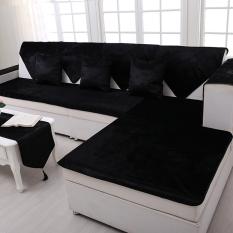 Best Reviews Of Modern Plush Wood Sofa Cushion Slip Towel Sets Sofa Pad