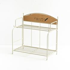 Poly Cute Iron Desktop Storage Rack Japanese Style Multi Function Iron Craft Goods Storage Shelf Lower Price