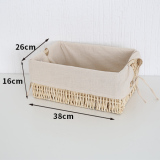Store Poly Cute Lined With Debris Straw Storage Basket Woven Basket Oem On China