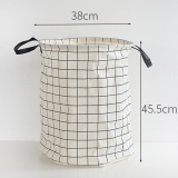 Poly Cute Plaid Toys Dirty Clothes Laundry Basket Storage Basket Best Price