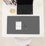 Discount Polyester Fiber Leather Oversized Big Pad Waterproof Office Desk Mat Pad Xd Dark Grey Intl Oem