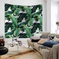 Polyester Wall Tapestry 150x130cm (Green Leaf) - intl