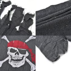 Pop Linen Flag Pirate Raw & Bloody Bones Skeleton Theme Party Decoration 60*88cm - intl