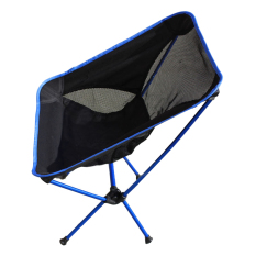 Portable Aerial Aluminum Alloy Foldable Beach Chair - Black + Blue - intl