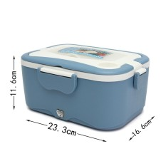 Portable Car Electric Heating Lunch Box Food Warm Heater Storage Container Vans - Intl By Teamtop.