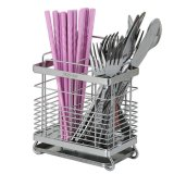 Price Portable Chopsticks Cage Drainer Spoon Cutlery Storage Boxkitchen Rack Organizer Silver Intl Oem China