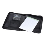 Portable Professional Business Portfolio Padfolio Folder Document Case Organizer A5 Pu Leather Zippered Closure With Calculator Card Holder Memo Note Writing Pad Intl Lowest Price