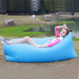 Portable Self Inflatable Couch Thicken Material Blue Free Shipping