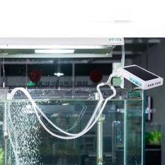 Coupon Portable Solar Power Panel Oxygen Oxygenator Air Pump Aerator Pool Pond Export