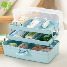Portable Three - Storey Multi - Functional Storage Box Medicine Box Plastic Tools Storage Box(length :31cm Wide :18cm High :16cm) - intl