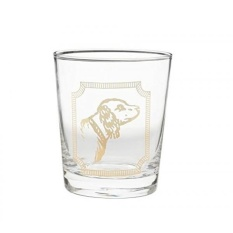 pottery barn ken fulk retriever dog double old fashioned glasses set of 4 glass bar - Pottery Barn Singapore