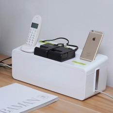 Power Strip Cord Storage Boxes Safety Socket Outlet Board Container Electric Wire Collection Cables Organizer Case Accessories 26x12x13.5cm - intl