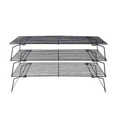 Practical High-quality Hot Sell 3-Tier Baking Cooling Rack Grid For Kitchen Bread Cookie Wire Cake Food Tool - intl