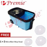 Premie 360 Degree Spin Mop Micro Fibre Floor Mop W Stainless Busket Blue Intl Best Buy