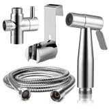 Sale Premium Stainless Steel Bathroom Toilet Hand Held Handheld Portable Bidet Spray Sprayer Gun And Hose Oem Wholesaler