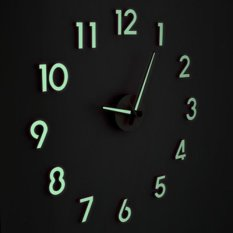 Price Comparisons For Present 3D Frameless Large Wall Clock Style Zero Noise Glow