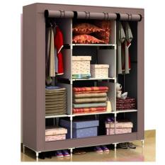 Price Comparisons For Prince King Size Wardrobe Waterproof Wardrobe Multi Functional Wardrobe Brown