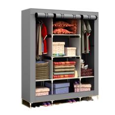 Prince King Size Wardrobe Waterproof Wardrobe Multi Functional Wardrobe Grey For Sale Online