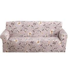Uebfashion Printed Sofa Cover Spandex Stretch Cloth Art Slipcover - intl