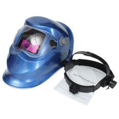 Buy Pro Solar Auto Darkening Welding Helmet Arc Tig Mig Mask Grinding Welder Deep Blue China