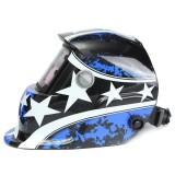 Pro Solar Welder Mask Electrowelding Auto Darkening Welding Helmet Pentagram In Stock