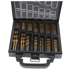 Brand New Professional Tool Hss Titanium Drill Bit Set 99Pcs Bits In Metal Storage Case Intl