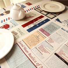 Promotions A1x F:140*180 Mediterranean style drape linen tablecloths coffee table cloth tablecloths - intl