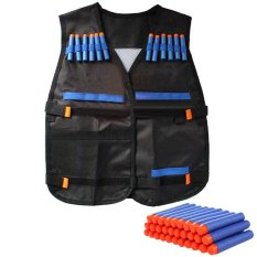 Protective Waterproof Elite Tactical Vest With 100 Pcs Blue Darts For Nerf N-Strike Elite Series Black - Intl By Vococal Shop.