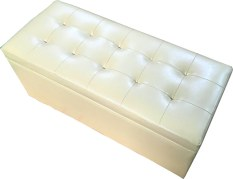 Pu Leather Cushion Ottoman Storage Stool Seat Box Bench Large Leather Beige Price