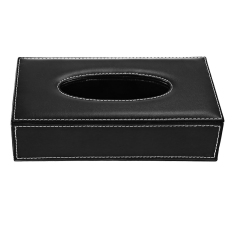 Pu Leather F*c**l Tissue Paper Box Dispenser Case Holder For Home Toilet Bathroom Office Car Automotive Black Intl For Sale