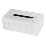 Buying Pu Leather Home Car Rectangle Napkin Paper Tissue Box Cover White