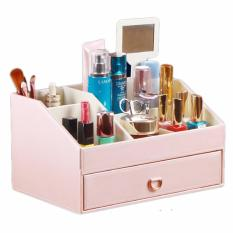 Review Leather Cosmetic Organizer Cosmetic Storage With Drawer Premium Made Singapore
