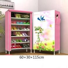 Recent Pudding Multilayer 3D Panorama Diy Storage Shoe Cabinet Beige Intl