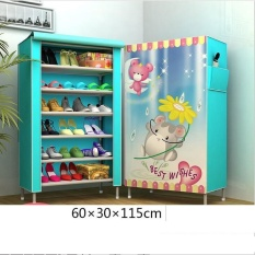 Buy Pudding Multilayer 3D Panorama Diy Storage Shoe Cabinet Blue Intl Oem Online