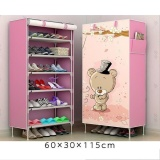 Sale Pudding Multilayer 3D Panorama Diy Storage Shoe Cabinet Pink Intl Online On China