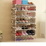 Get Cheap Pudding Multilayer Simple Shoe Rack Storage Cabinet Beige Intl