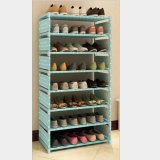 Compare Prices For Pudding Simple Assembling Dustproof Shoes Cabinet Blue Intl
