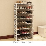 Pudding Simple Assembling Dustproof Shoes Cabinet Grey Intl Compare Prices